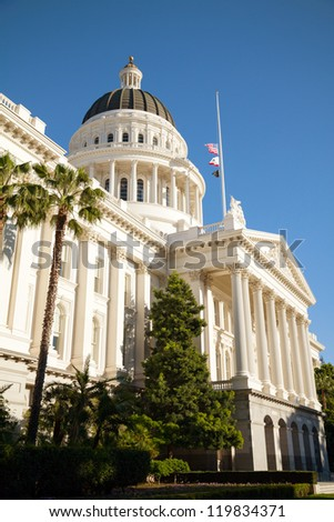 Capitol building in Sacramento, California on the sunny day - stock photo