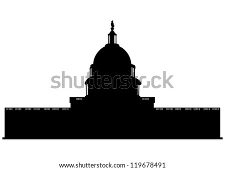 Capitol Building in United States - stock photo