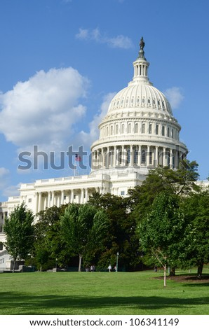 Capitol Building in Washington DC United States - stock photo