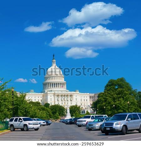 Capitol building Washington DC USA Pennsylvania Avenue - stock photo