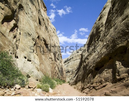 Capitol Gorge, Capitol Reef National Park, Utah - stock photo