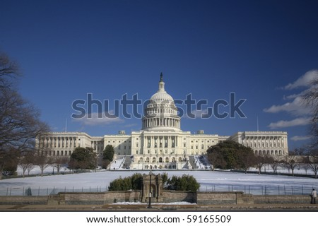 Capitol Hill Amazing Blue - stock photo