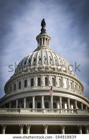 Capitol Hill Building in Washington DC - stock photo