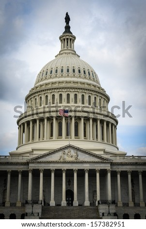 Capitol Hill in Washington DC - stock photo