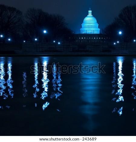 Capitol in Washington DC - stock photo