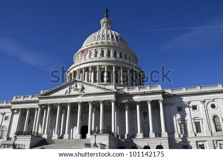 Capitol, located in Washington, DC, is the building in which the US Congress meets. It is at the east end of the National Mall