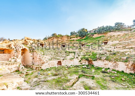 Capitolias Presentday Northern Jordan Located About Stock Photo - Where is jordan located