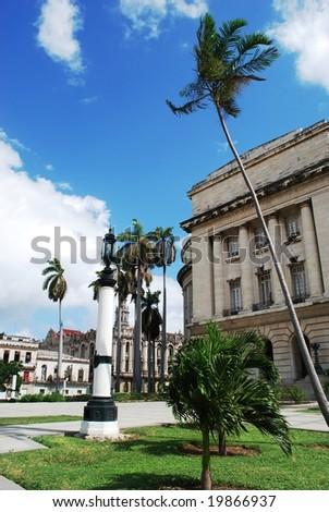 Capitolio place in Havana - stock photo