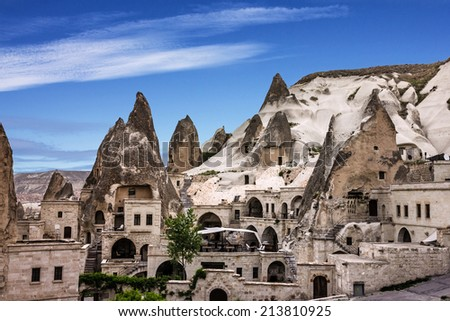 Cappadocia, Anatolia, Turkey. Open air museum, Goreme national park. - stock photo