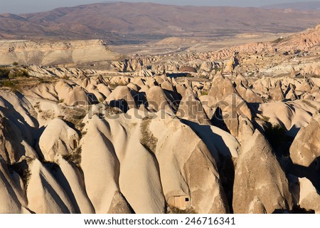 Cappadocia, Turkey. volcanic rock landscape - stock photo