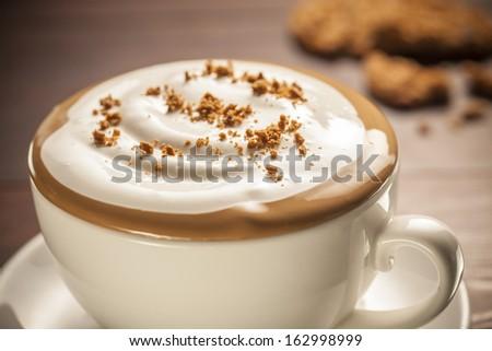 cappuccino - stock photo