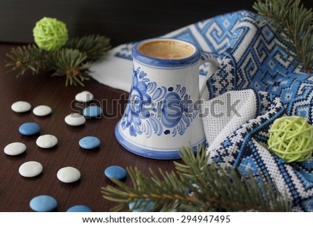 cappuccino coffee - stock photo