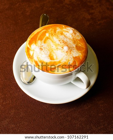 Cappuccino coffee cup - stock photo