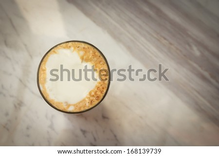 Cappuccino Iced Coffee in glass - stock photo