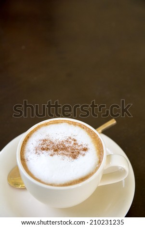 Cappuccino or latte coffee - stock photo