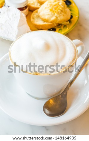 Cappuccino with scone