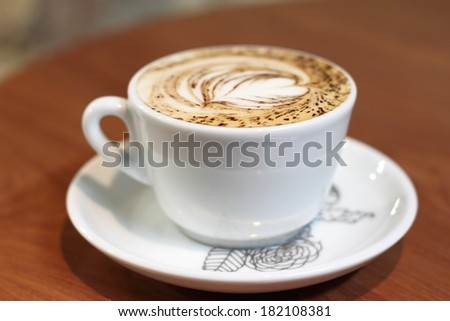 cappucino. Cup of coffee - stock photo