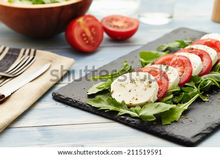 caprese salad with rocket instead of basil