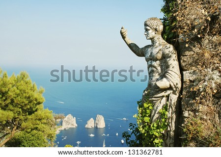 Capri island, Italy - stock photo