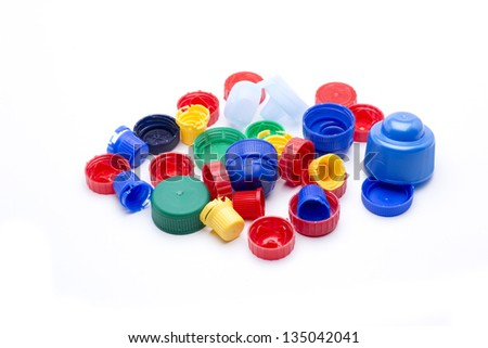 caps of many colors and sizes, ready for recycling