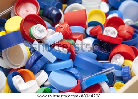 Caps of the bottle - stock photo