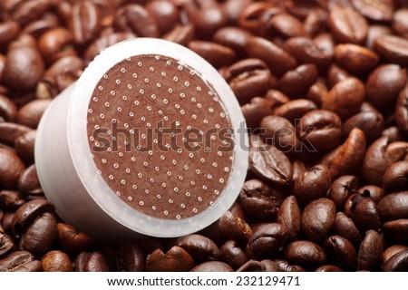 Capsule coffee - stock photo