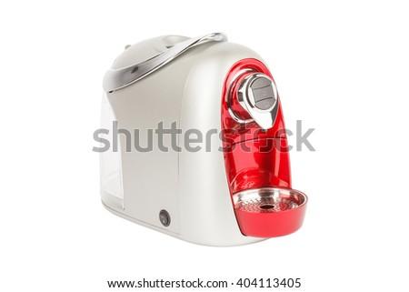 Capsule espresso coffee maker or coffee machine.  - stock photo