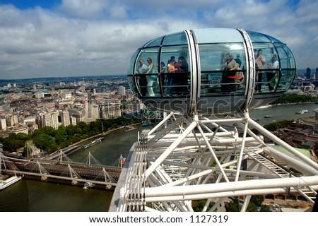 Capsule - London Eye - London - United Kingdom - stock photo