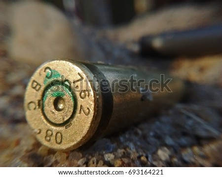 capsules of caliber 7.62 in the ground in the city of Rio de Janeiro