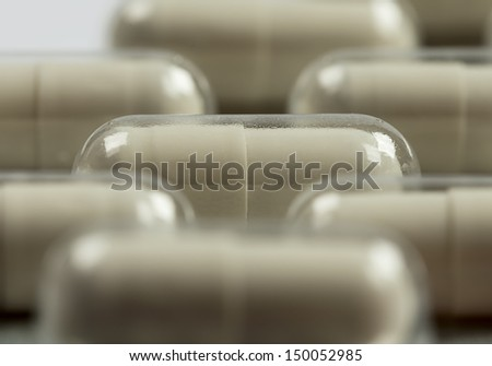 Capsules packed - stock photo
