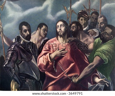 captivity of christ - el greco