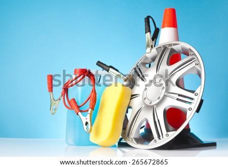 car accessories,car service concept - stock photo