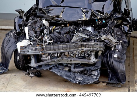 car accident, car crash accident damaged automobiles.