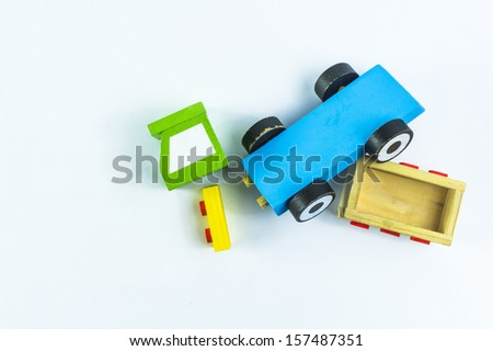 car accident crushed toy truck ...