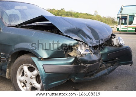 Car accident for insurance concept - stock photo