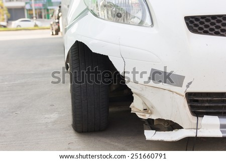 car accident, insurance. - stock photo