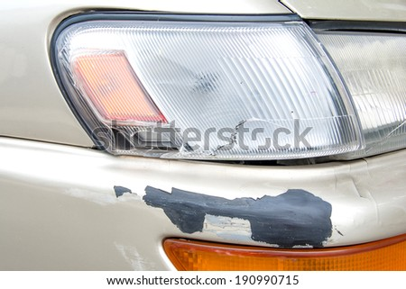 Car accident, insurance concept - stock photo
