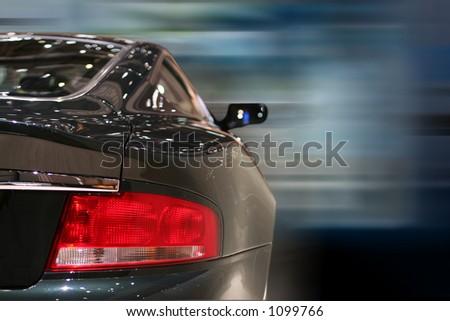 Car against a blur background - stock photo