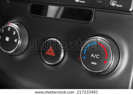 Car air conditioner buttons. - stock photo