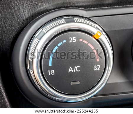 car air conditioning control switch - stock photo