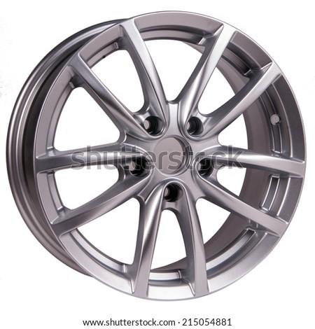 car alloy wheel, isolated  - stock photo