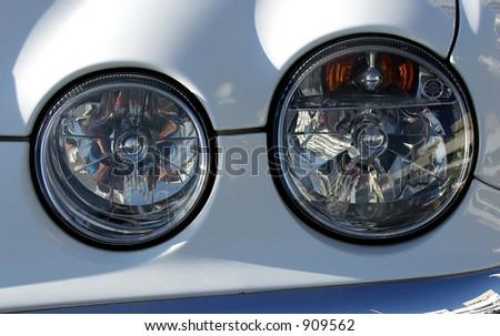 Car Anatomy Twin Headlight Stock Photo (100% Legal Protection ...