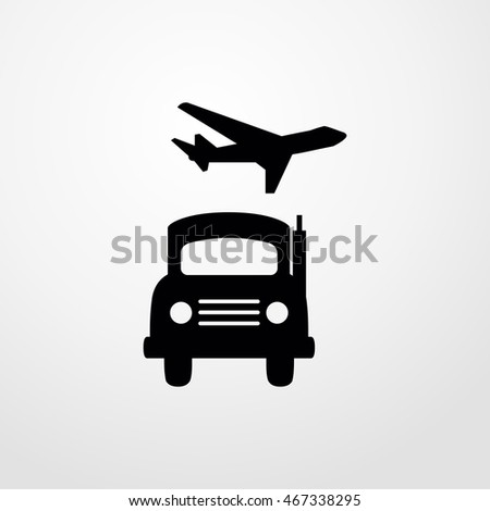 car and airplane icon. car and airplane sign