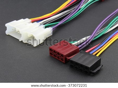 Car audio cable adapter - stock photo
