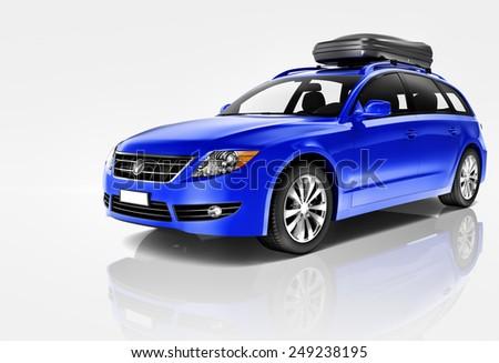 Car Automobile Contemporary Drive Driving Vehicle Transportation Concept - stock photo