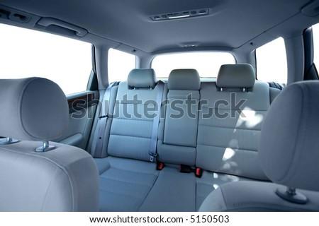 Car back seats interior - stock photo