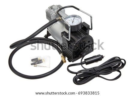 Car Bike Tire air compressor with hose and manometer tester