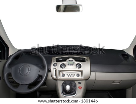 Car board isolated on white - stock photo