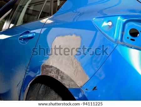 Car body repair. - stock photo