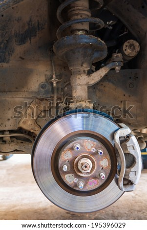 Car brakes system - stock photo
